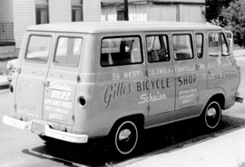 Gilles Bicycle Shop Van